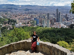 Admiring the views of Bogota on our hike down from Monserrate