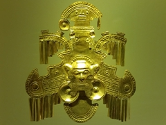 One of 8,000 pieces of gold on display at the Gold Museum; Bogota