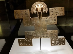 Gold exhibit from the Tolima culture; Gold Museum