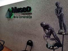 The Emerald Museum, located on the 23rd floor of the Avianca Building, is worth a quick stop