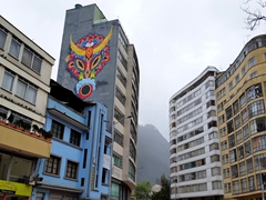 Funky architecture in downtown Bogota