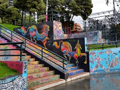Cool graffiti on display at this skate park in La Candelaria