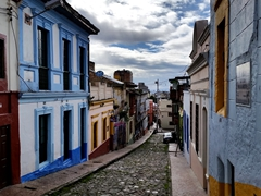 We loved the colorful houses of Bogota's La Candelaria district