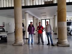 Becky, Lars and Matt at the Sabana Train Station