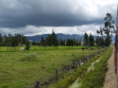 View of the countryside on our way out to Zipaquirá