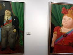 Artwork on display at the Botero Museum