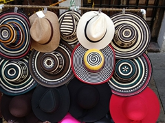 Hats for sale; La Candelaria