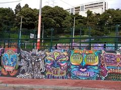Street view of the graffiti art; La Candelaria