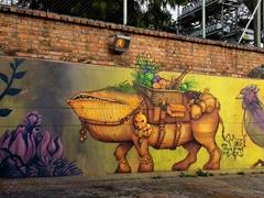 Street art everywhere in downtown Bogota