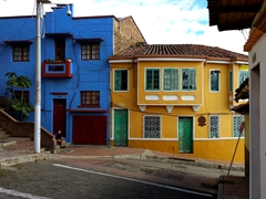 Vibrant street scene in La Candelaria