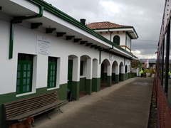 Train station on our route to the Salt Cathedral of Zipaquirá