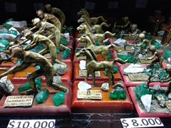 Figurines of miners extracting emeralds; Zipaquirá Salt Mine