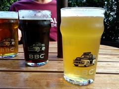 Enjoying a pint of beer at Bogota Beer Company