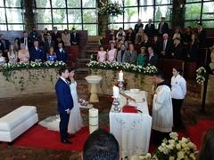 Craig and Mafe's intimate wedding ceremony;  Hacienda Pozo Chico