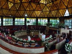 Panorama of the wedding venue at  Hacienda Pozo Chico