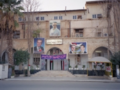 Posters of Hafez al-Assad (who died in 2000) and his son President Bashar al-Assad