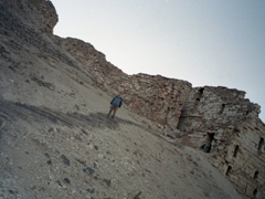 Robby heading down from Halabiye Fortress