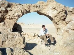Robby under one of Resafa's many arches