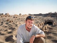 Striking a pose amongst the ruins of Resafa