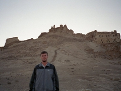 Robby grins after his visit to Halabiye Fortress