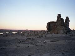 Dusk view of the citadel of Halabiye
