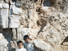 These two shy boys greeted us as we explored the ancient city of Resafa