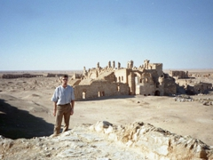 Robby enjoying having the archaeological site of Resafa all to himself!