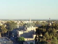 Deir ez-Zor skyline as seen from our hotel on the left bank of the Euphrates