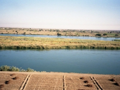 View of the Euphrates from Dura Europos, located on an escarpment above the river