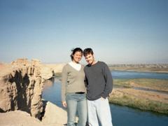 Posing at the edge of Dura Europos