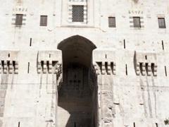 Imposing entrance to the Aleppo Citadel