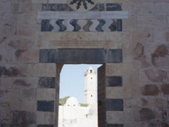 Portal in Al Azem Palace, Damascus. Note the materials used: limestone, sandstone, basalt and marble