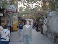 Becky enjoying the hand craft souq of Damascus