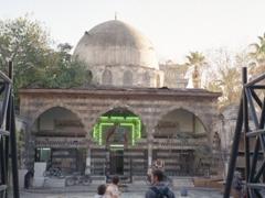 Robby standing in the courtyard of the Tekkiye Madrasa, Damascus