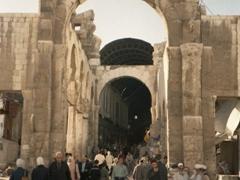 Temple of Jupiter leading to the entrance of Al Hamidiyah Souq, Damascus
