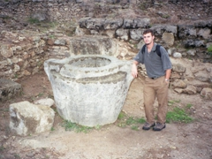 Robby at Krak de Chevaliers, one of the best preserved medieval castles in the world
