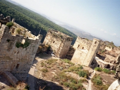 View of the towers and wall of Salah Ed-Din Citadel