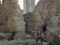 Robby posing at Saladin Castle (also known as Citadel of Salah Ed-Din)