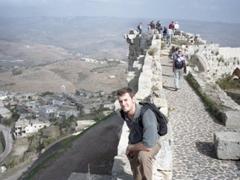 Enjoying the vistas from Krak des Chevaliers