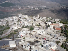 The village al-Husn below Krak des Chevaliers
