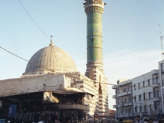 Mosques are a common sight in busy Damascus
