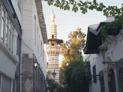 Gorgeous minarets abound in old Damascus