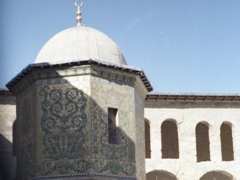"""This octogonal structure is known as the """"Dome of the Treasury"""". Decorated with 14th century mosaics, the mosque's funds were stored here; Great Mosque of Damascus (Umayyad Mosque)"""