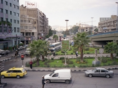 View of Damascus from our hotel room