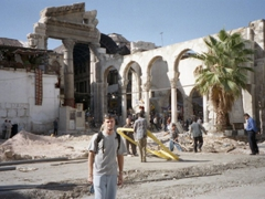 Robby in front of the Temple of Jupiter in old Damascus