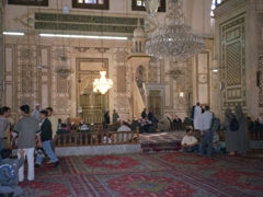 Interior view of Umayyad Mosque's prayer hall, Damascus