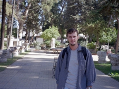 In the garden of the National Museum, Damascus