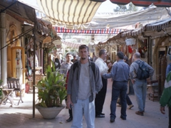 Finding no bargains at the Hand Craft Souq, Damascus