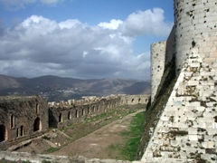 View of Krak des Chevaliers, built by the crusaders Knights Hospitaller