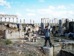 Robby posing on top of an Apamea Column